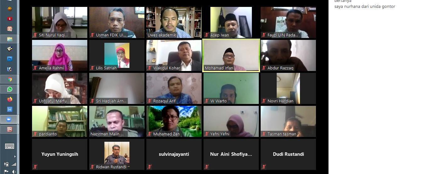 FDIK UIN Imam Bonjol Padang Ikuti Workshop Online Jurnal Bidang Ilmu Dakwah Bersama PPJID