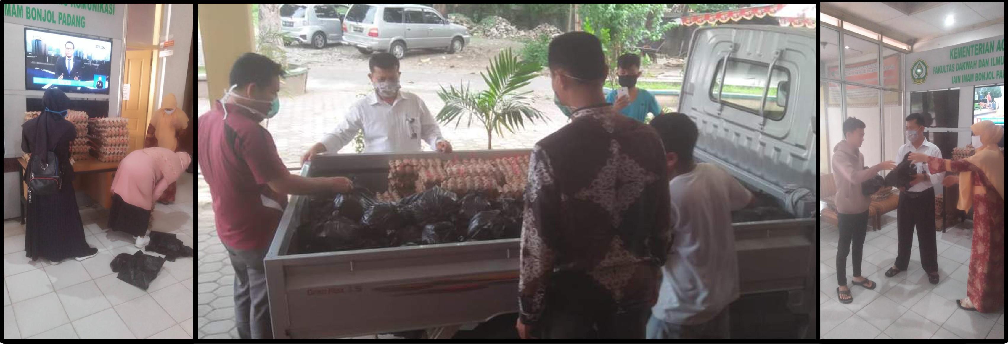 Peduli Dampak Covid 19 Fakultas Dakwah dan Ilmu Komunikasi  UIN Imam Bonjol Padang